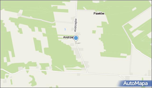 Rusiec, Andrzejów, mapa Rusiec