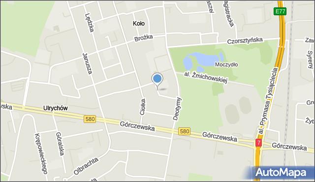 Warszawa, Batalionu AK 'Pięść', mapa Warszawy