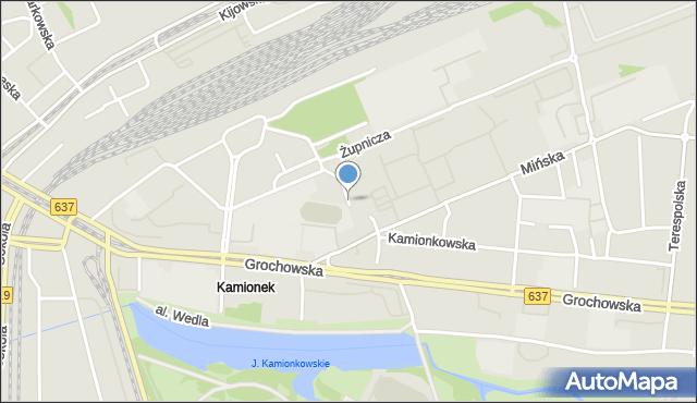 Warszawa, Bliska, mapa Warszawy