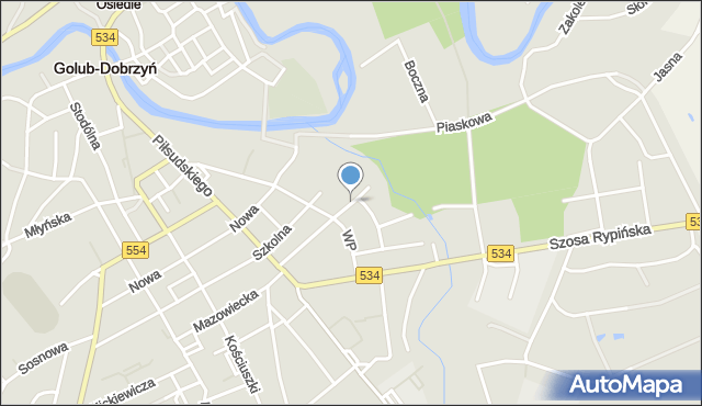 Golub-Dobrzyń, Bohaterów Września, mapa Golub-Dobrzyń