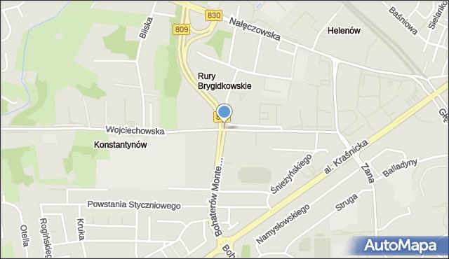 Lublin, Bohaterów Monte Cassino, mapa Lublina