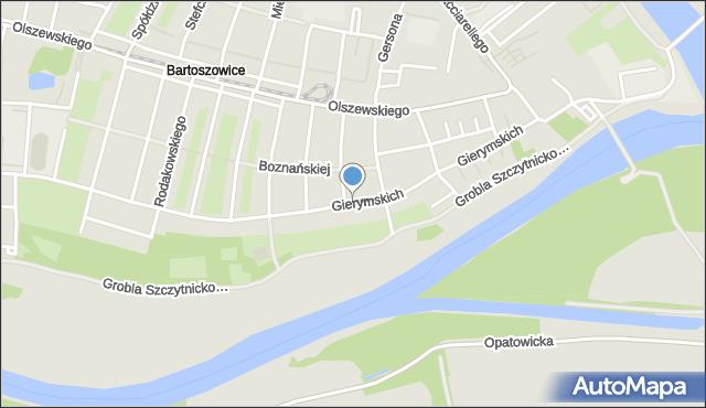 Wrocław, Braci Gierymskich, mapa Wrocławia
