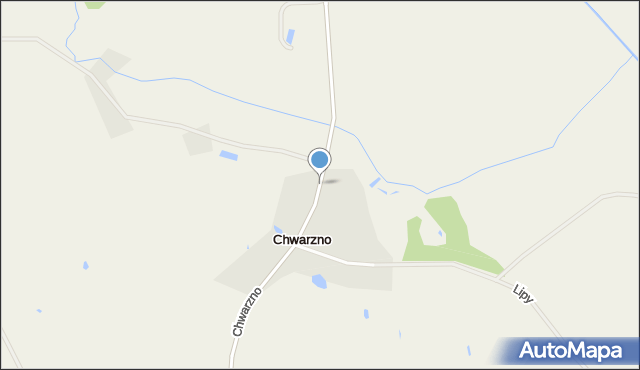 Stara Kiszewa, Chwarzno, mapa Stara Kiszewa