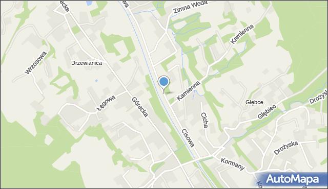 Brenna, Cisowa, mapa Brenna