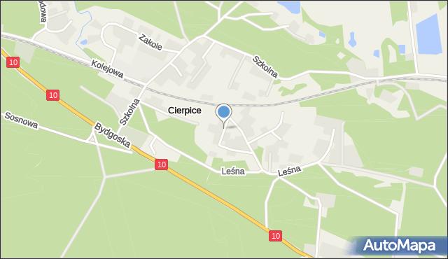 Cierpice, Cicha, mapa Cierpice