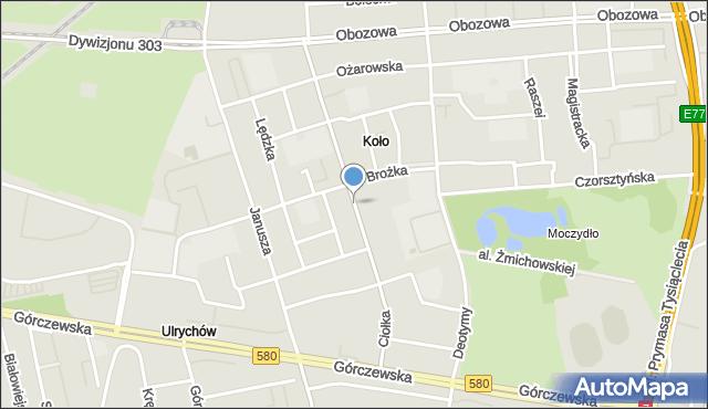 Warszawa, Ciołka Erazma, mapa Warszawy