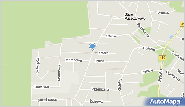 Puszczykowo, Czarnieckiego Stefana, hetm., mapa Puszczykowo