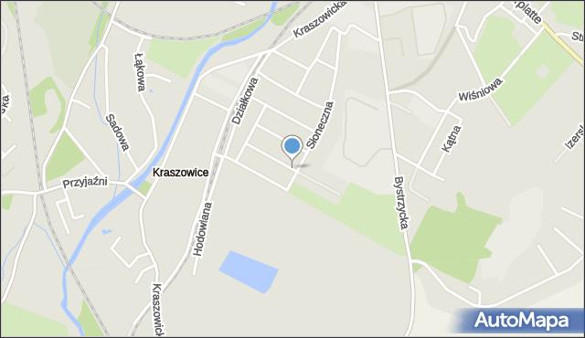 Świdnica, Czereśniowa, mapa Świdnicy