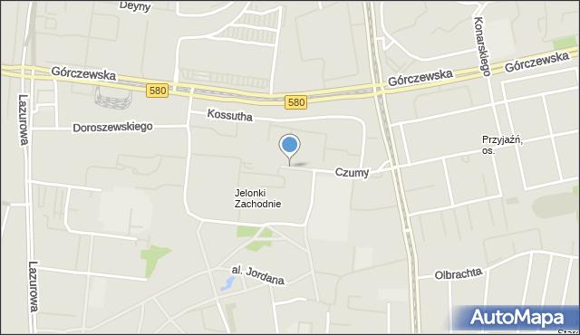 Warszawa, Czumy Waleriana, gen., mapa Warszawy