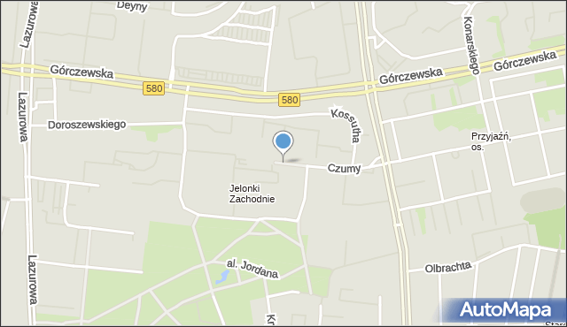 Warszawa, Czumy Waleriana, mapa Warszawy