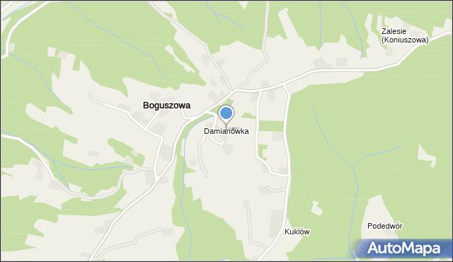 Chełmiec, Damianówka, mapa Chełmiec