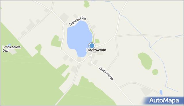Prostki, Dąbrowskie, mapa Prostki