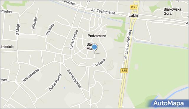 Lublin, Dominikańska, mapa Lublina