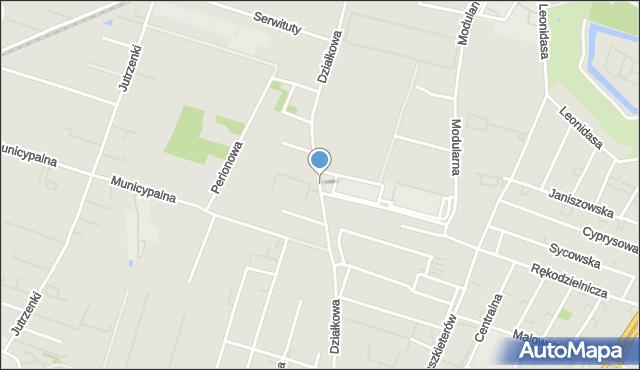 Warszawa, Działkowa, mapa Warszawy
