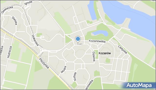 Wrocław, Dzielna, mapa Wrocławia