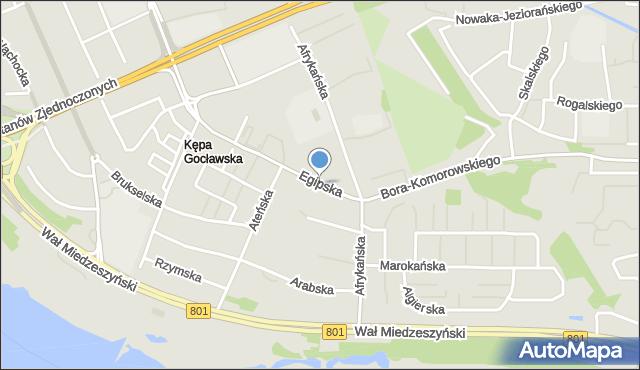 Warszawa, Egipska, mapa Warszawy