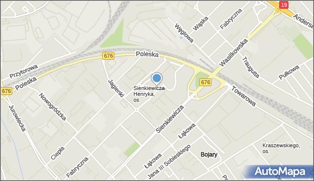 Białystok, Fabryczna, mapa Białegosto
