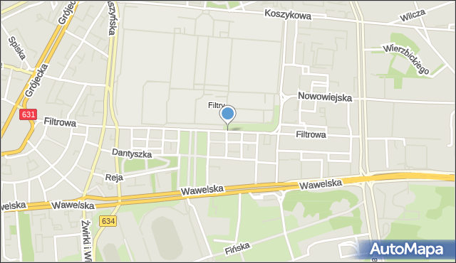 Warszawa, Filtrowa, mapa Warszawy