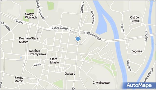 Poznań, Garbary, mapa Poznania