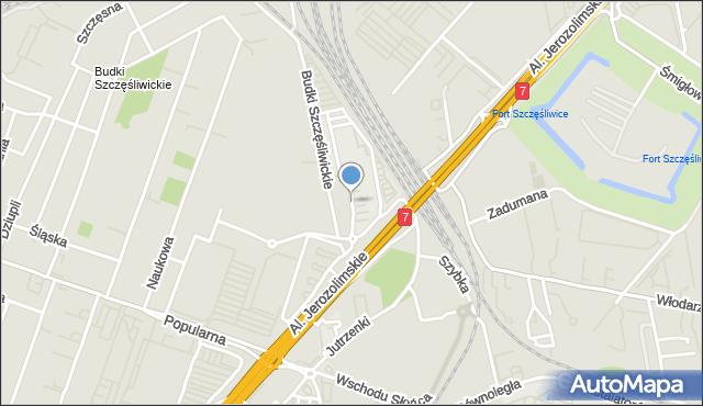 Warszawa, Gottlieba Daimlera, mapa Warszawy