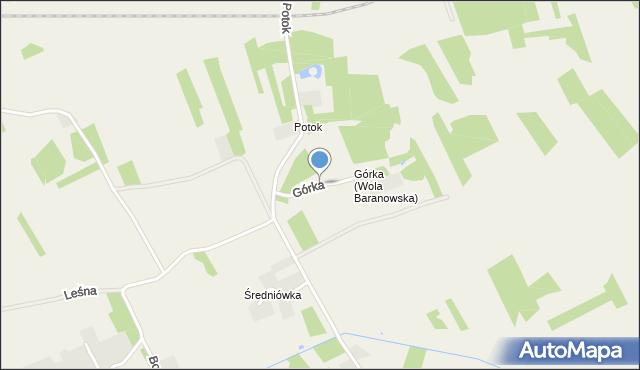 Wola Baranowska, Górka, mapa Wola Baranowska