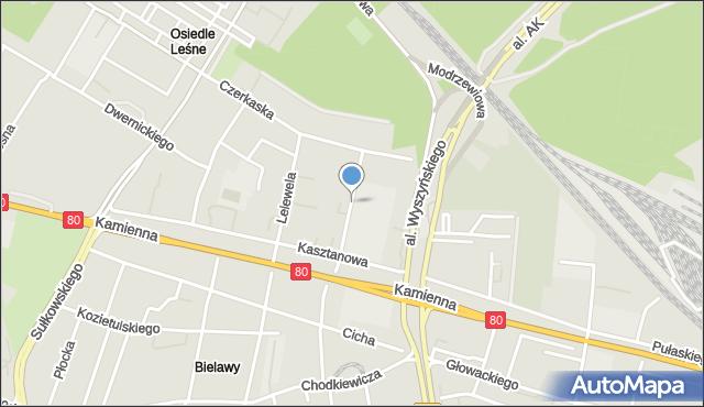 Bydgoszcz, Grabowa, mapa Bydgoszczy