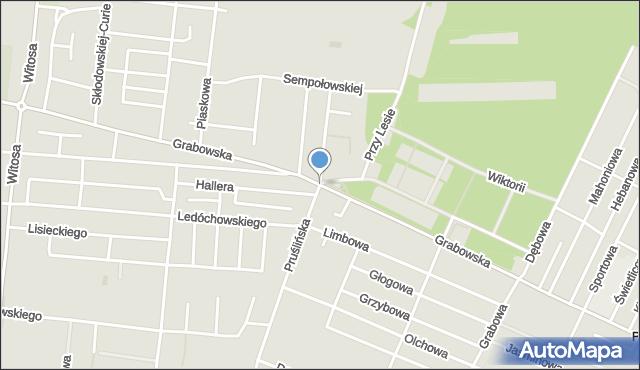 Ostrów Wielkopolski, Grabowska, mapa Ostrów Wielkopolski