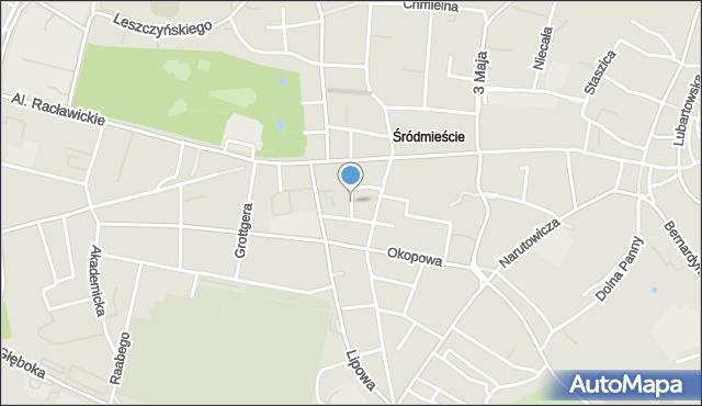 Lublin, Hipoteczna, mapa Lublina