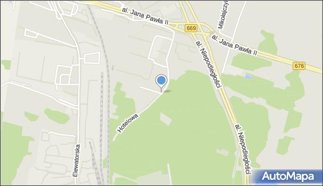 Białystok, Hotelowa, mapa Białegostoku