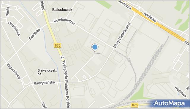 Białystok, I Armii Wojska Polskiego, mapa Białegostoku