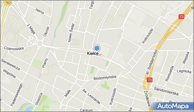 Kielce, IX Wieków Kielc, al., mapa Kielc