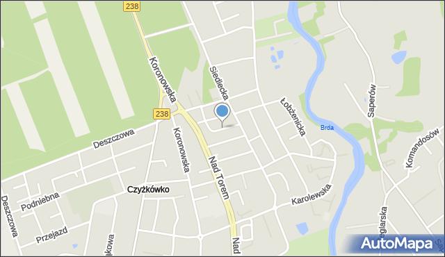 Bydgoszcz, Jarmużowa, mapa Bydgoszczy