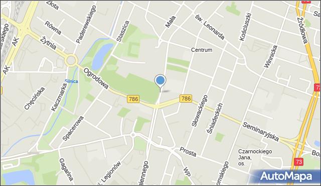 Kielce, Jana Pawła II, mapa Kielc