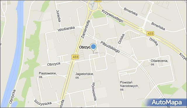 Poznań, Jagiellońskie, os., mapa Poznania