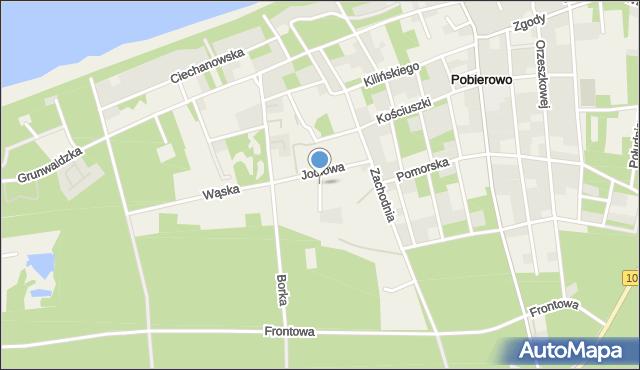 Pobierowo, Jodłowa, mapa Pobierowo