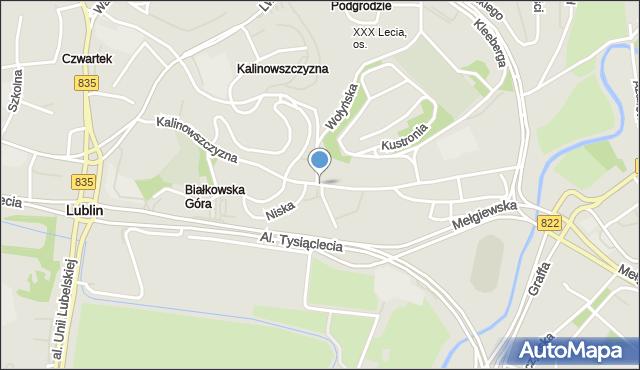 Lublin, Kalinowszczyzna, mapa Lublina