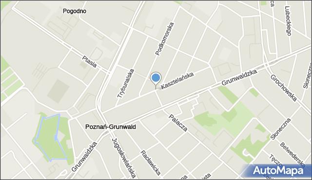 Poznań, Kasztelańska, mapa Poznania