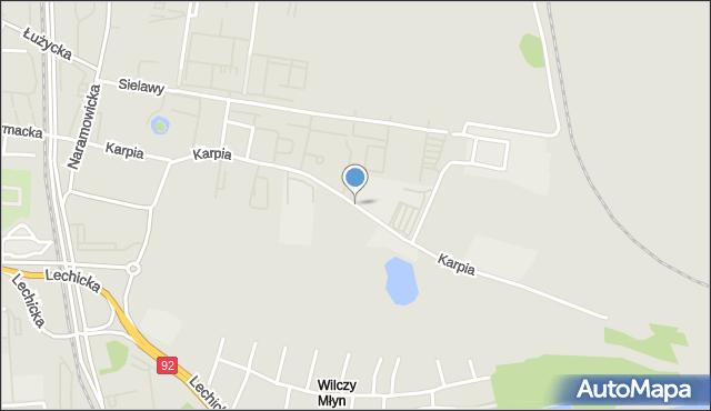 Poznań, Karpia, mapa Poznania