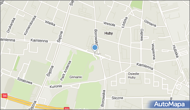 Wrocław, Kamienna, mapa Wrocławia