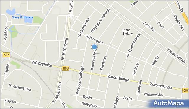 Warszawa, Kleczewska, mapa Warszawy