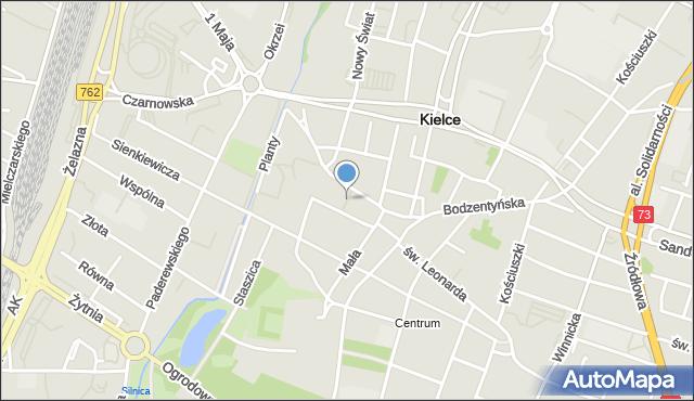 Kielce, Konstytucji 3 Maja, pl., mapa Kielc