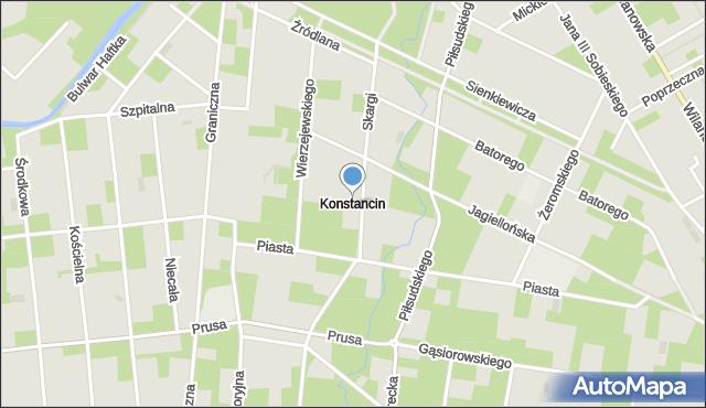 Konstancin-Jeziorna, Konstancin, mapa Konstancin-Jeziorna