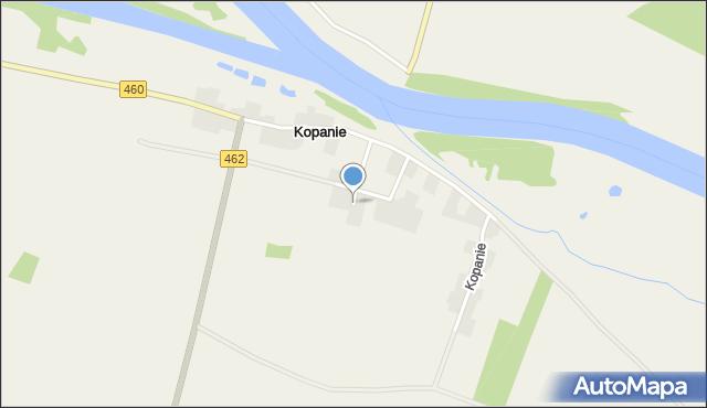 Kopanie, Kopanie, mapa Kopanie