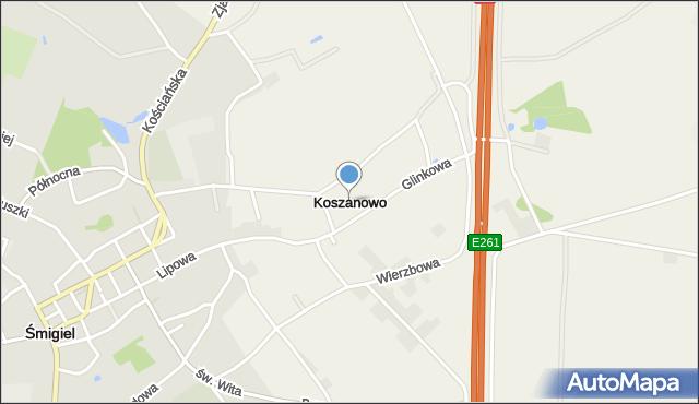 Koszanowo, Koszanowo, mapa Koszanowo