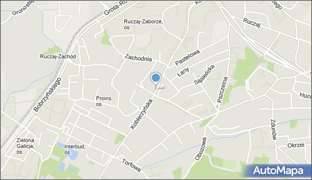 Kraków, Kobierzyńska, mapa Krakowa