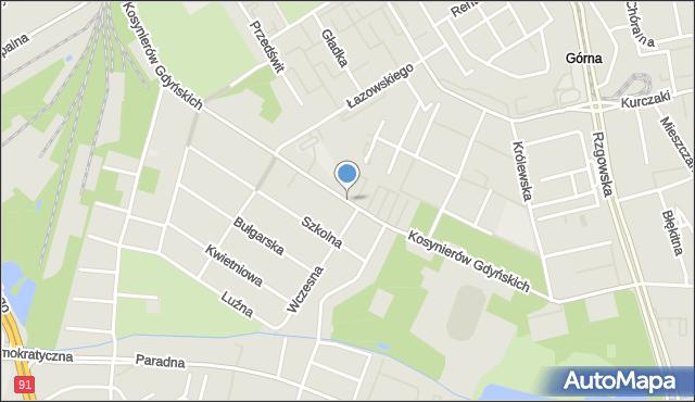 Łódź, Kosynierów Gdyńskich, mapa Łodzi