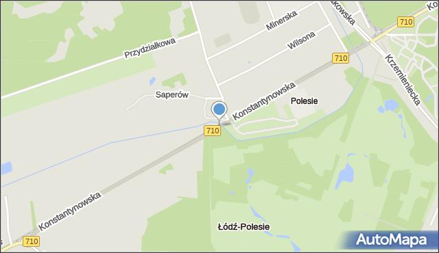 Łódź, Konstantynowska, mapa Łodzi