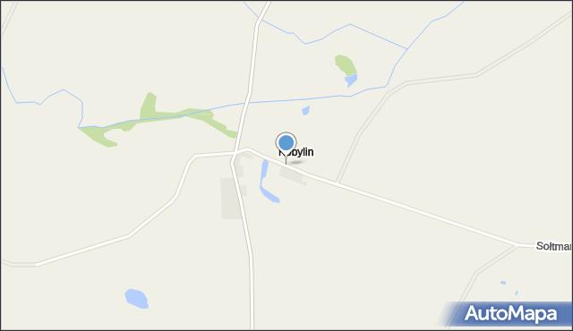 Prostki, Kobylin, mapa Prostki