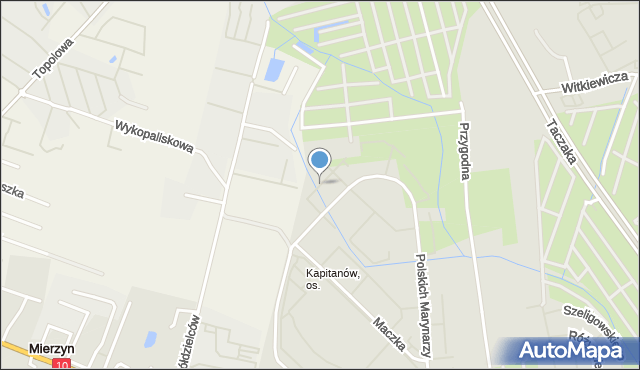 Szczecin, Kopańskiego Stanisława, gen., mapa Szczecina