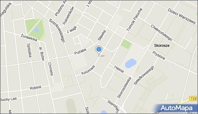 Warszawa, Kolorowa, mapa Warszawy